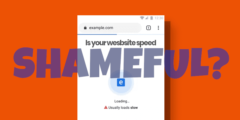 Website Speed Test Alert - Google's Public Badge of Shame